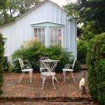 Sitting area outside of the bluebonnet barn