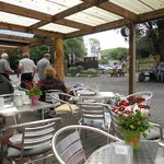 View from the seating area of the cafe at Devil's Bridge