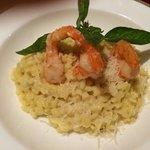 Shrimp risotto. Cin cin