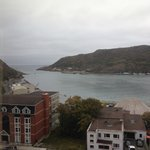 View from hotel of harbour and Signal Hill