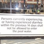 Funniest pool sign I've ever seen