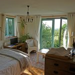 Light airy room with beautiful views across the surrounding countryside