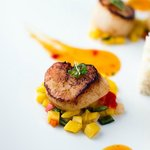 Delectable scallop dish.