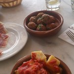 meatballs and 18 month spanish cured ham