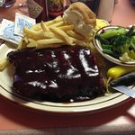 HALF of the rack of ribs I ate!