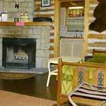 Log Cabin fire place