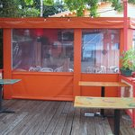 Gecko's porch enclosed for cooler weather