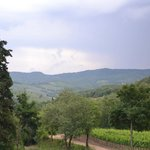 Rear terrace view to the Tuscan valley
