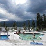 Hot springs pools at Halcyon