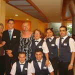 the staff at the restaurant