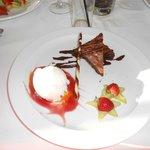 desert from hotel resteraunt