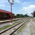 The famous Hua Hin train station which is still in use.