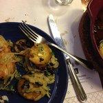 Bacalao con olivas negras y aceite de oliva