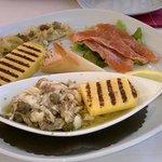 Fischvariationen zum Mittagessen, sehr lecker!
