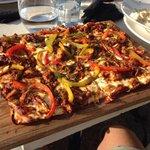 BBQ pizza with pepper