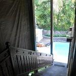 Vista dormitorio a piscina privada