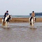 Peaceful ride along the beach