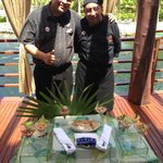 Marcos of the left and our Ceviches chef