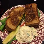 Four cheese sandwich with potato salad. Delicious!!