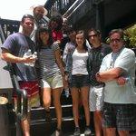 Our group getting ready for Cluehoo Laguna Beach.