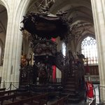the magnificent pulpit lovely wood carvings