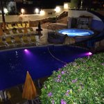 Pool area at night - 15th June 2014