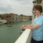 Balcony at breakfast room looking out over Grand Canal