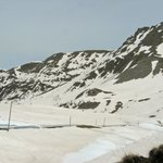 Col de la Cayolle pass in the French Alps, May 2014