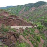 Road along the red-rock Gorges de Daluis