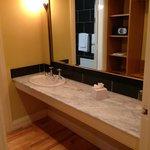 Large bathroom/dressing room area