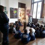 Turma de alunos no Museu