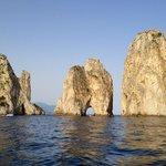 The famous Faraglioni rock formations