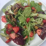 The Strawberry, lettuce and pistachio salad
