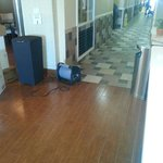 This is what was cooling lobby and area into hallway. .. mgmt said it was to dry floors.... that