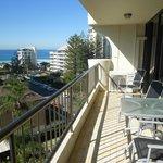 balcony facing east with sea views