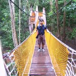 The suspension bridge at Gunung Lamak