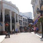 Rua de lojas famosas