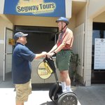 Tim getting training for our Segway Tour in San Diego June 2014
