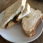 Brie, sundried tomatoes & pesto sandwich