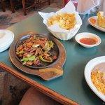 Beef Fajitas were very nice
