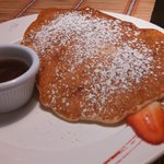 Banana nut pancakes. The best!