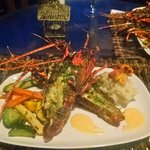 Delicious lobster dinner by Marlon