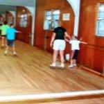 Wood floor (sorry so blurry)