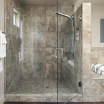 Spa shower in Lightner Creek.