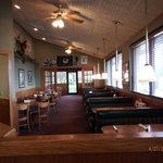 inside perkins tables, booths