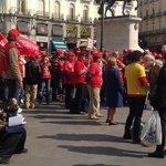 manifestacao em Puerta do Sol