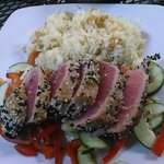 Sesame Crusted Seared Rare Tuna