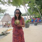 fresh coconut water every morning