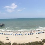 View from a 10th floor oceanfront balcony