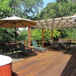 Home deck ~ what a great place for a wine country breakfast